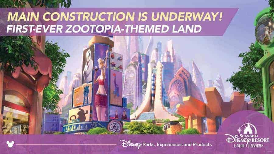 Shangahai Disney Resort new Zootopia-themed land