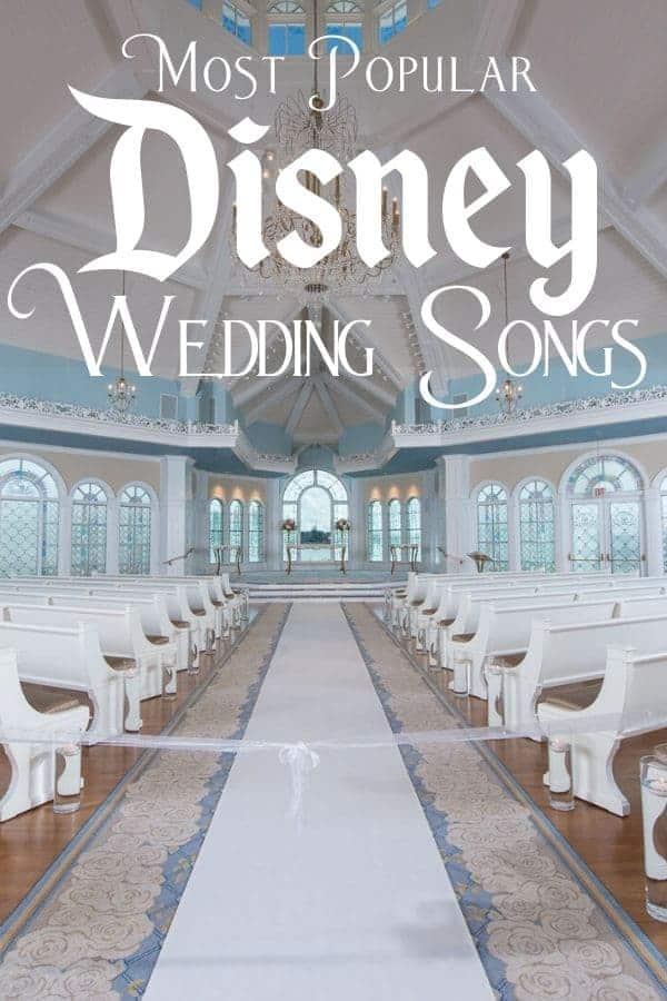 List of Most Popular Disney Wedding Songs