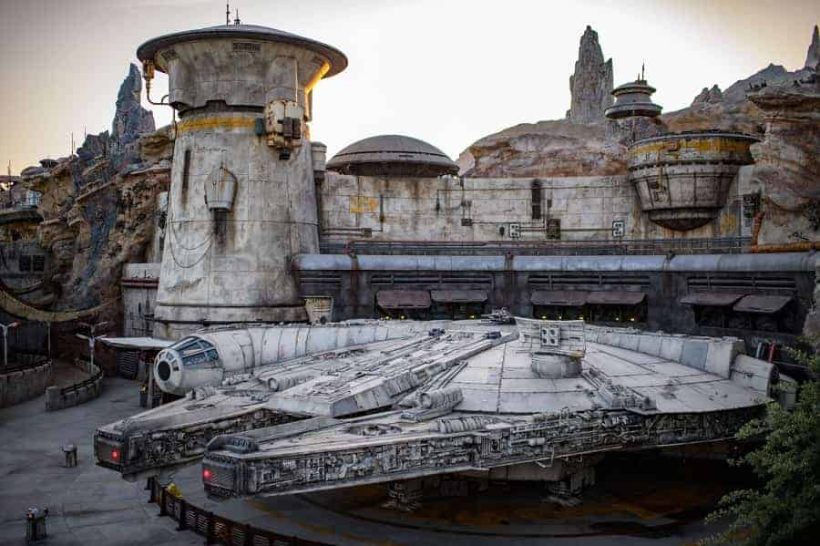 Millennium Falcon in Disneyland