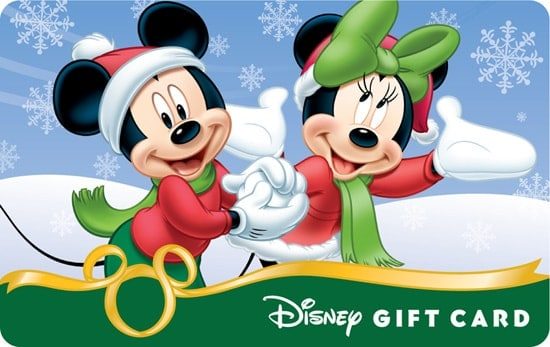 Disney Christmas Giftcard