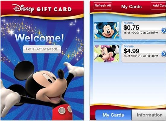 Disney Giftcard App