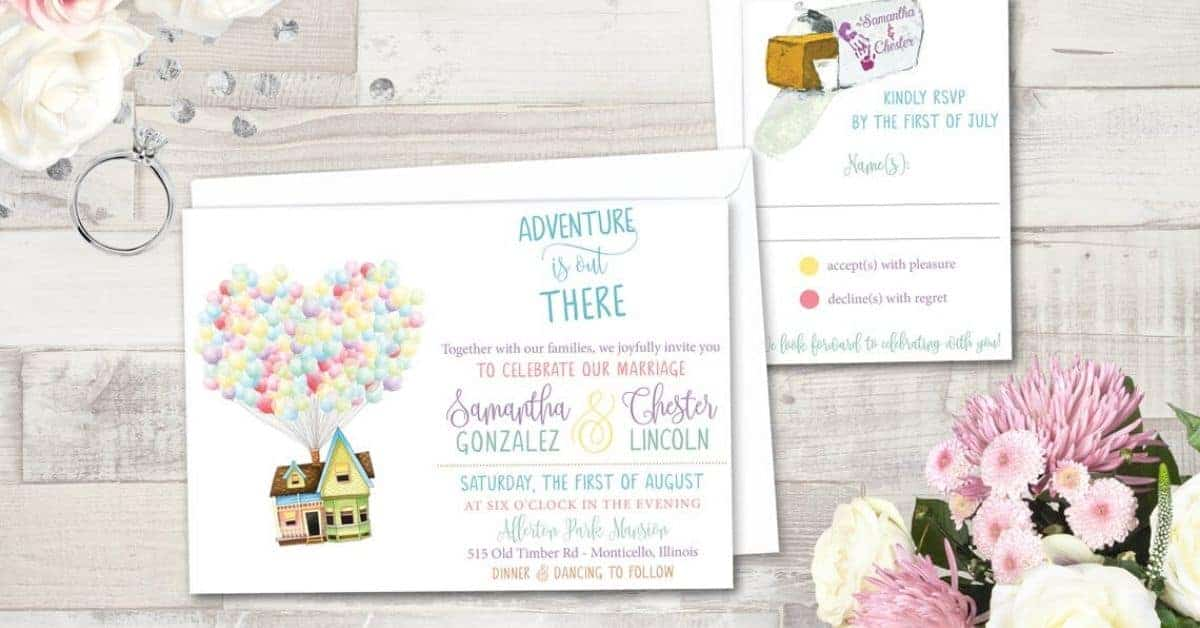 Beautiful Disney Wedding Invitations