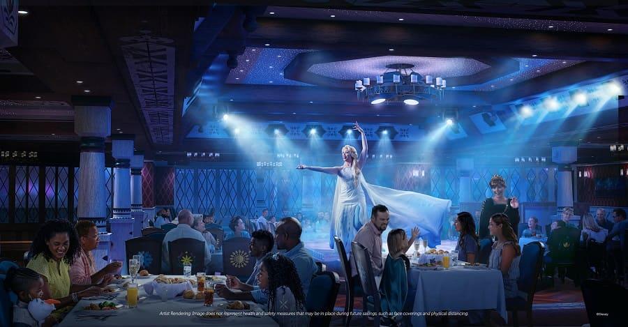Disney Wish Frozen restaurant
