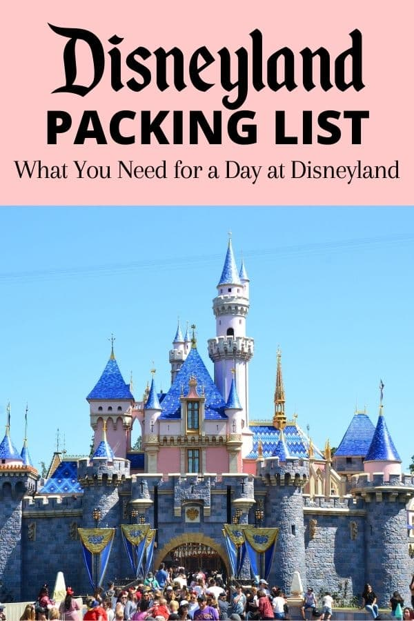 Disneyland Packing List