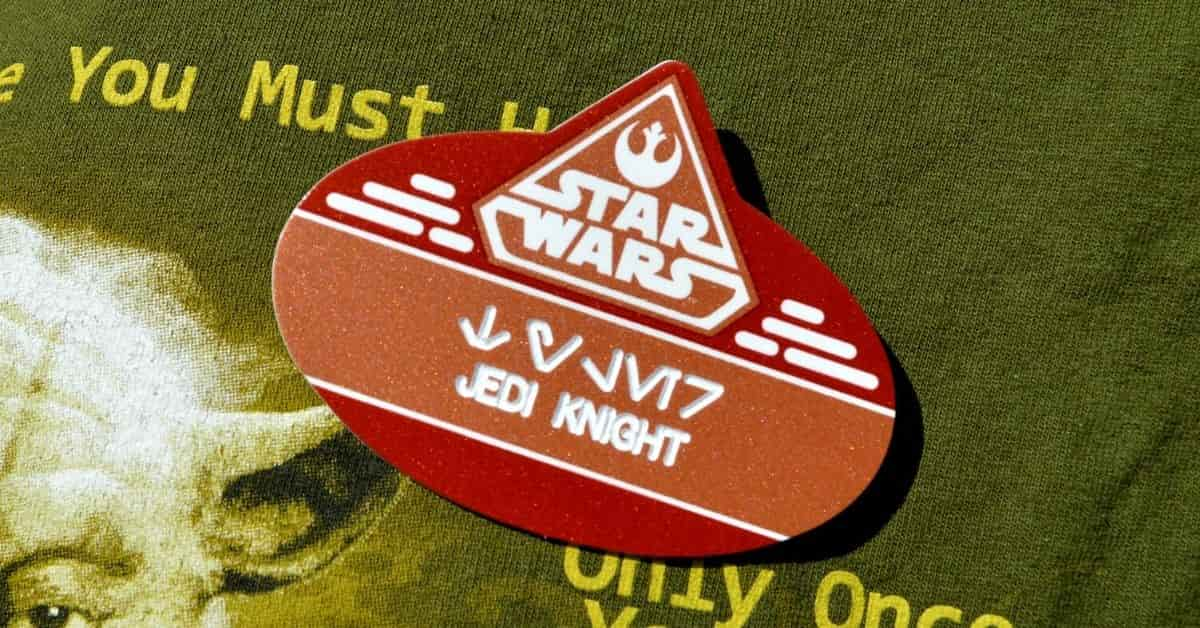Star Wars Name Tag at Hollywood Studios
