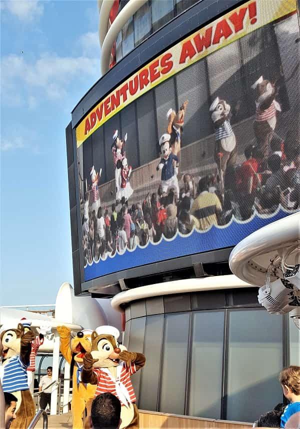 Sail Away Party on Disney Cruise