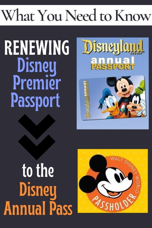 Renewing the Disney Premier Passport