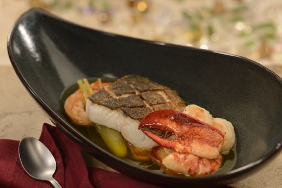 Saffron-Infused Seafood Bouillabaisse at Be Our Guest