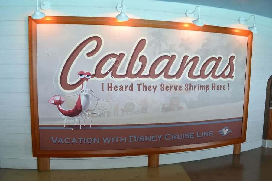 Cabanas on the DIsney Dream Cruise Ship