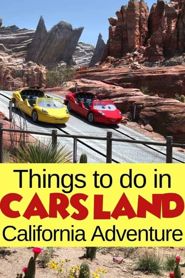 Things to do in Cars Land