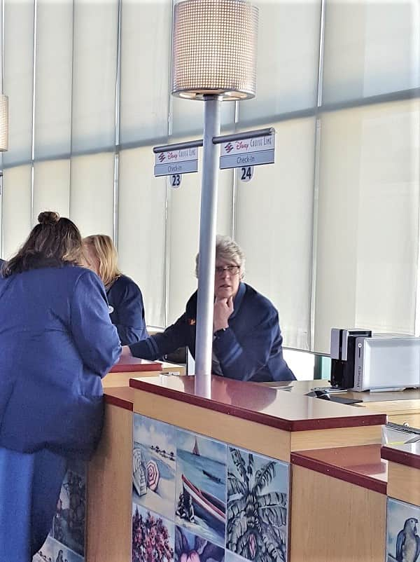 Check in Process at Cruise Terminal