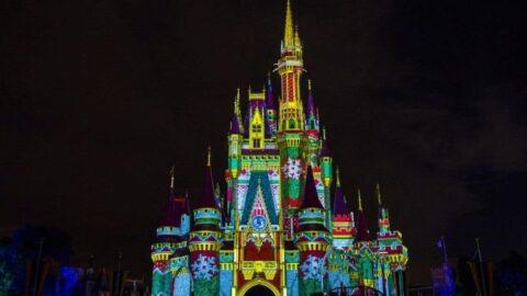 Cinderella Castle at Christmas