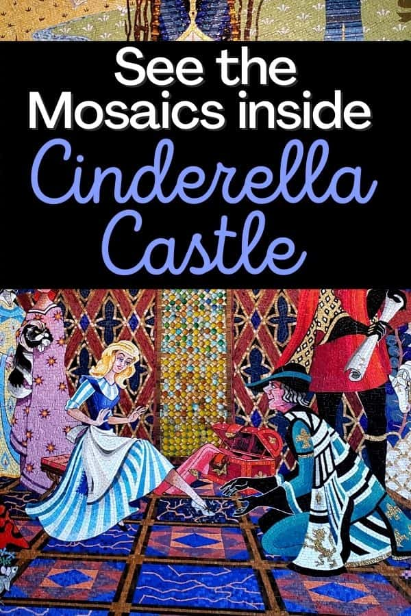 Mosaics in Cinderella Castle Disney World