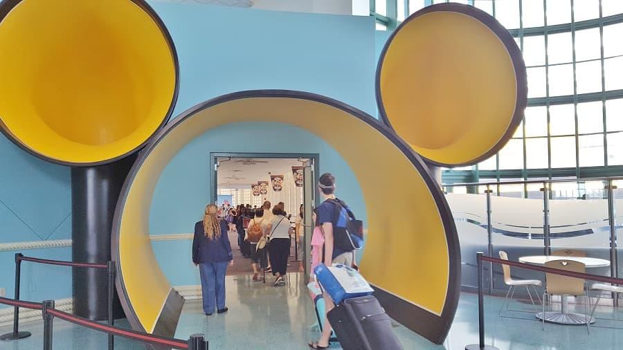 Boarding Disney Cruise