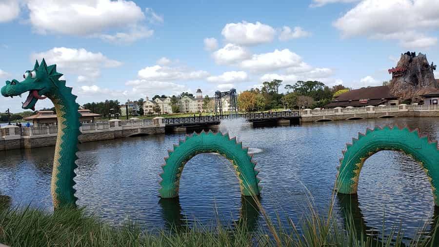 Disney Springs LEGO Dragon