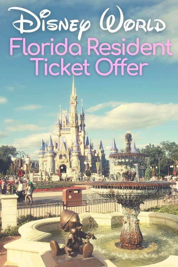Disney World Florida Resident Ticket Offer