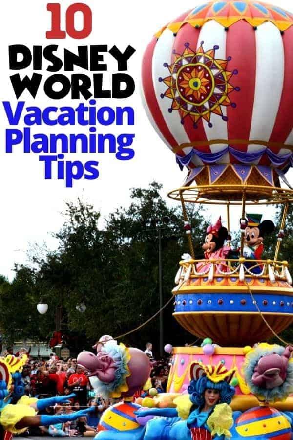 10 Disney World Vacation Planning Tips