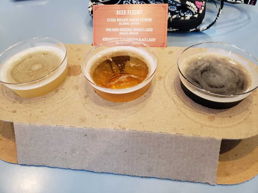 Epcot Beer Flight in Germany