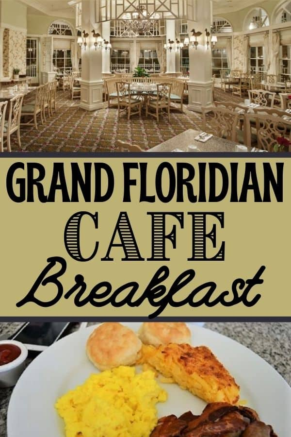 Grand Floridian Cafe Breakfast Options
