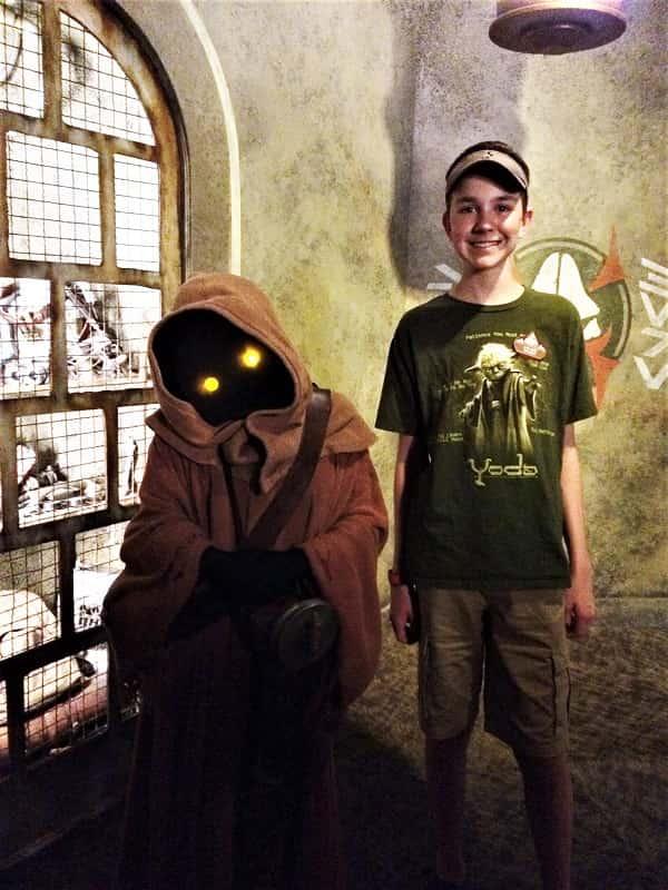 Meeting Jawas at Hollywood Studios