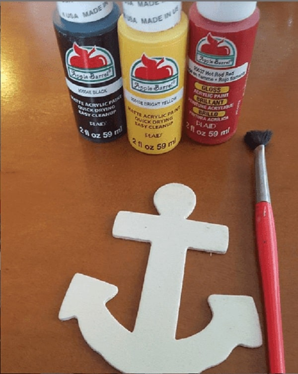 Paint Colors for Mickey Mouse Anchor Craft