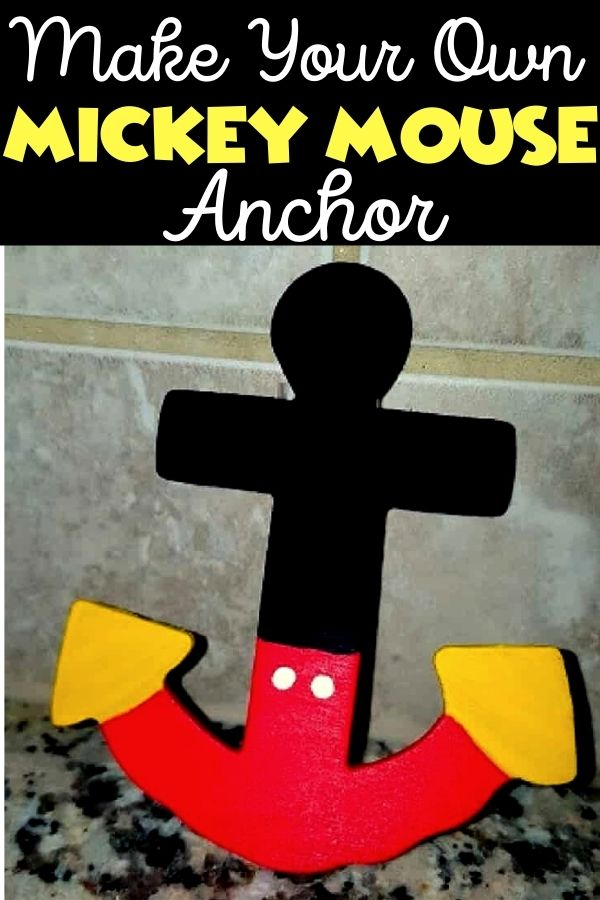 How to Make a Mickey Mouse Anchor Magnet