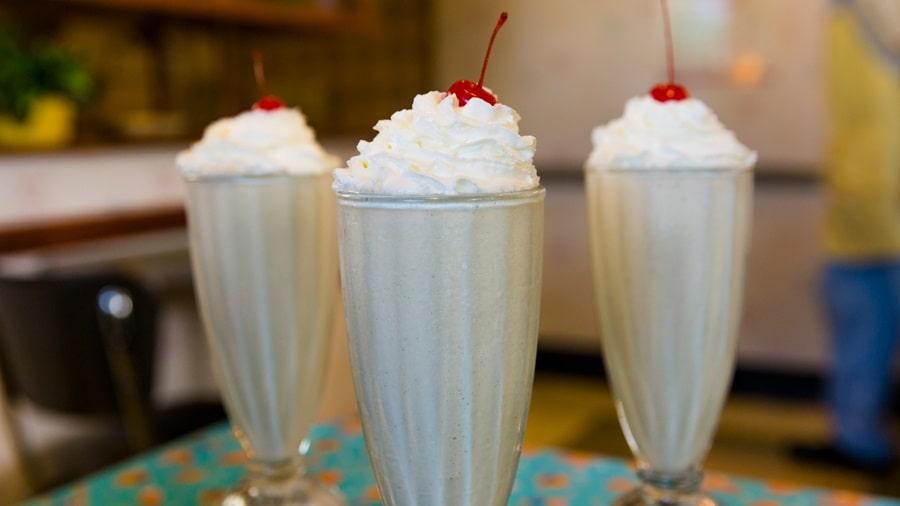 Peanut Butter & Jelly Milkshake at 50's Prime Time Cafe