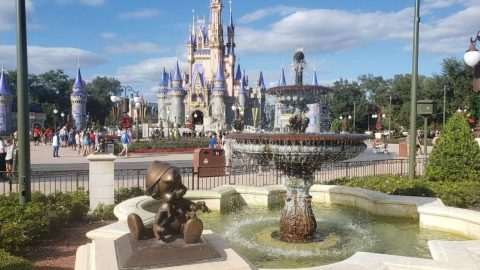 Pinocchio Statue at Disney World