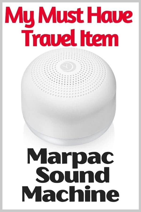 Marpac Travel Sound Machine is a must have for Disney Vacations
