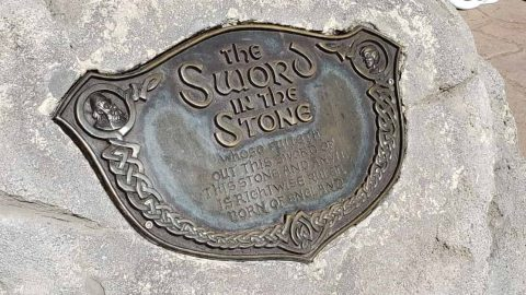 Sword in the Stone Plaque in Magic Kingdom