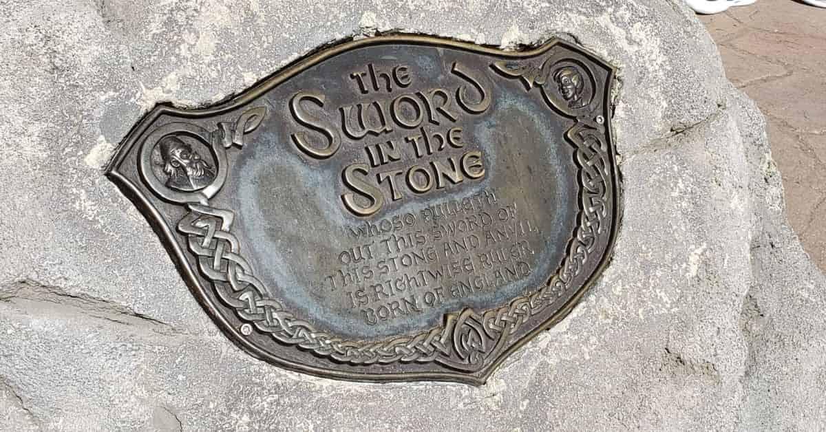 Sword in the Stone Plaque in Magic Kingdom